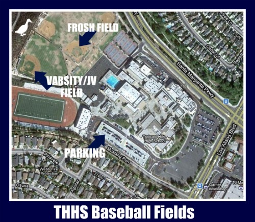trabuco hills high school baseball map