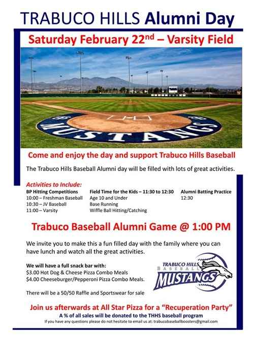 Trabuco Baseball Alumni Game 2014