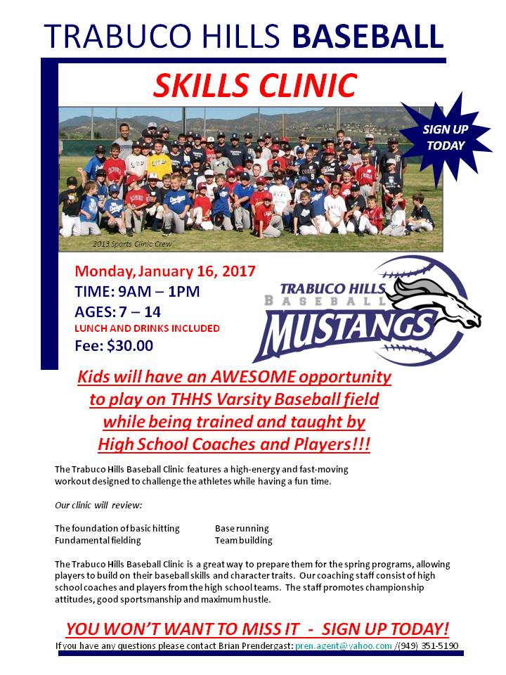 THHS Baseball Clinic 2017